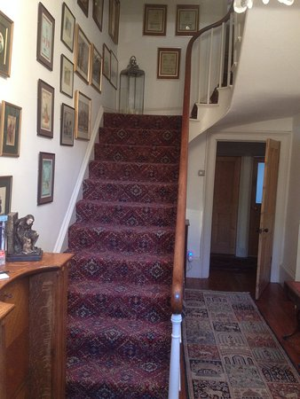 The Old Rectory at Stewton: view up the stairs