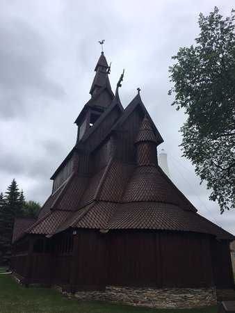 Moorhead, MN: Back of Hopperstad Stave Church