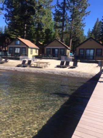 Tahoe Vista, CA: View of room 22 from pier (middle)