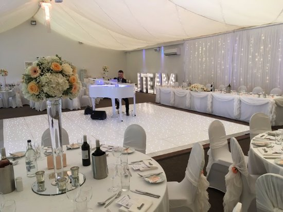 Wedding Reception With Baby Grand Piano At The Beaverwood Picture