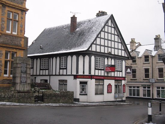 Moretonhampstead, UK: A cosy fire awaits at The Bell on a snowy february day in 2015.