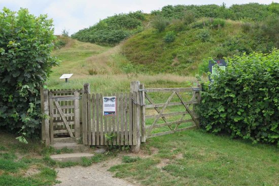 Oswestry, UK: the path to the hull fort