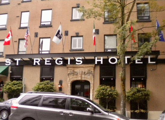 St. Regis Hotel: One way street in front of hotel.