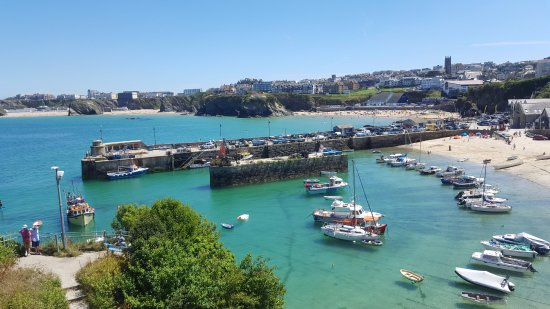 The Harbour: View of Newquay and Harbour from Room 3 Terrace