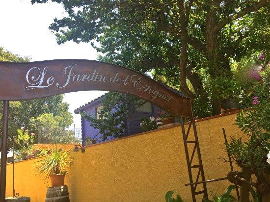 Les Jardins de l'Estagnol: l'entrée
