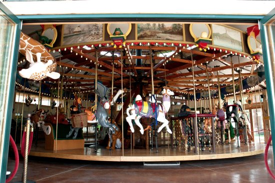 Nederland, CO: The Carousel has 34 hand-carved animals... ready to ride.