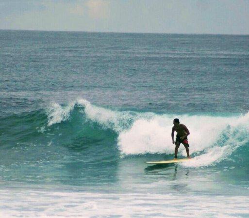 Hotel Popoyo: Playa Popoyo, ótima para surf, fica um pouco longe do hotel, que disponibiliza carro para levar.