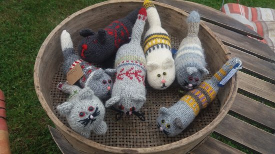Lahemaa National Park, Estonia: Lot of knitted toys.
