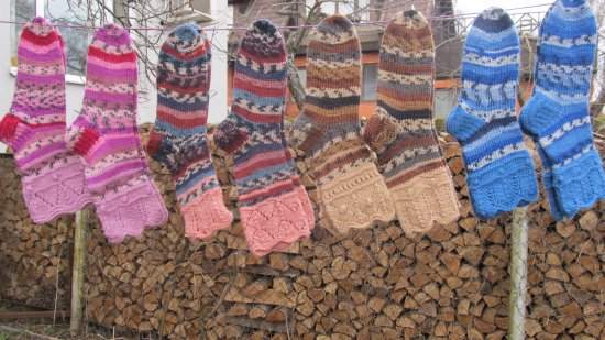 Lahemaa National Park, Estonia: We have also lot of warm knitted socks , mittens  and cardigans.