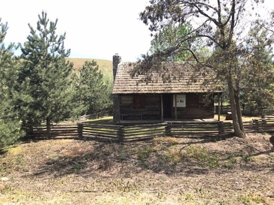 Milton Freewater, OR: McCoy Cabin at Frazier Farmstead Museum