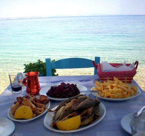Katarraktis, กรีซ: ...από το καΐκι στο πιάτο!!