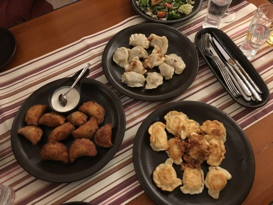 Miod i Wino : Pierogis fried and boiled, all GREAT!