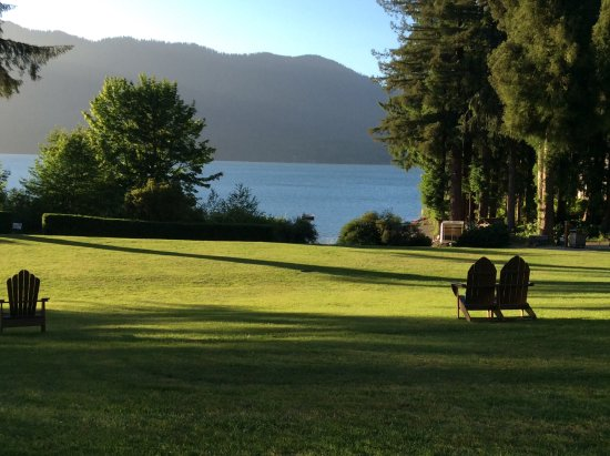 Quinault, WA: Lawn view