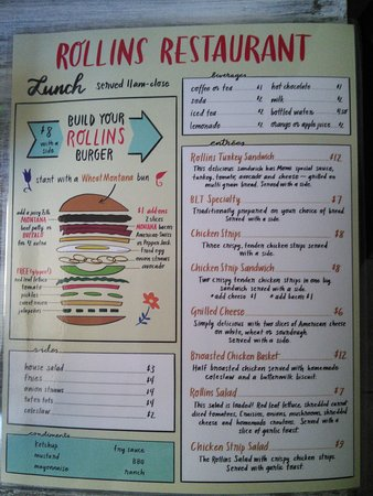Rollins, MT: Lunch menu