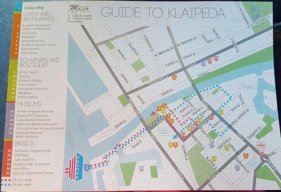 Walking tour map Picture of Klaipeda Old City Klaipeda TripAdvisor