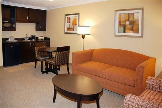 San Mateo, CA: Suite with Wetbar and Living Room.