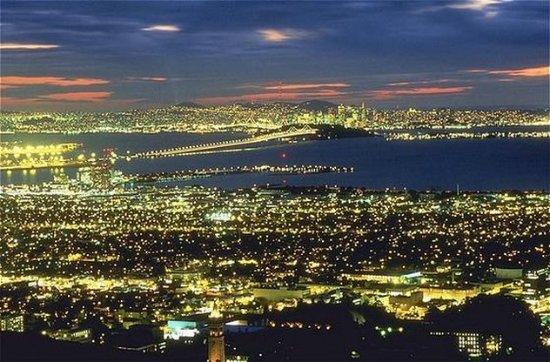 San Mateo, CA: San Francisco at Night.