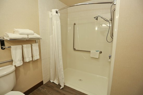 Вернон, Канада: Accessible Bathroom Roll-in Shower
