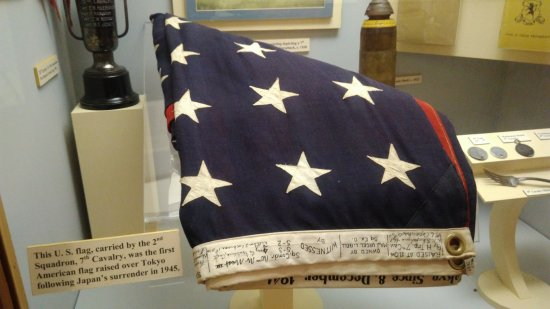 Fort Riley, KS: The first flag flown over Tokyo after the WWII surrender