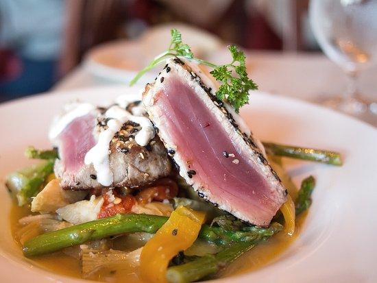 Nyack, NY: Seared tuna (a special). Love it.