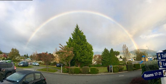 Te Anau Kiwi Holiday Park: Somewhere over the rainbow