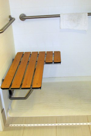 Neptune, NJ: broken seat in shower for the handicapped