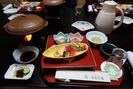 Sera Bekkan: Traditional dinner served in room.