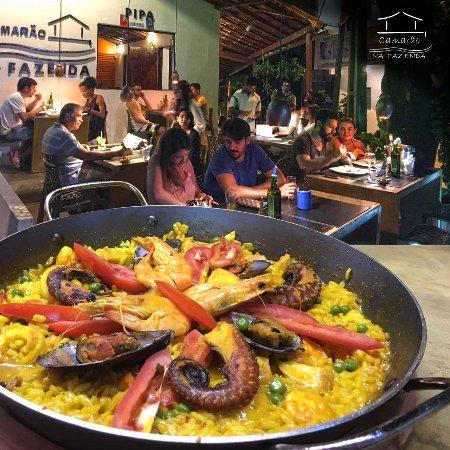 Camarão na Fazenda Pipa: Paella de frutos do mar