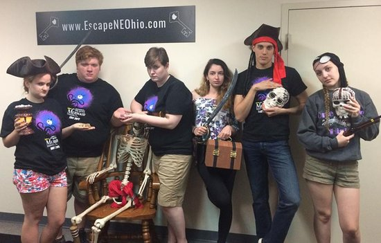 Escape NE Ohio: Members of the Millennial Theatre Company know the pirate room is serious business. Break a leg!