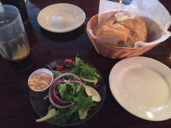 Exton, PA: starter salad and oh so good bread