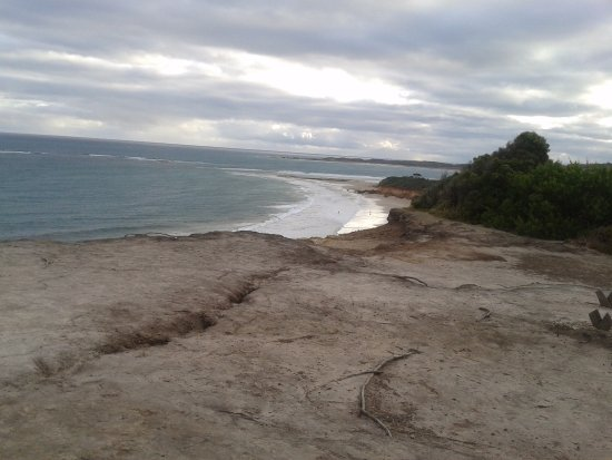 Looking down on Anglesea surf beach