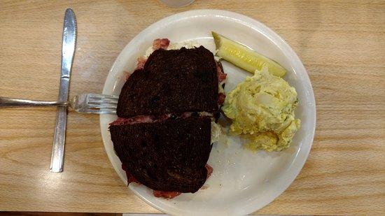 Cecil's Delicatessen & Bakery: reuben sandwich and potato salad
