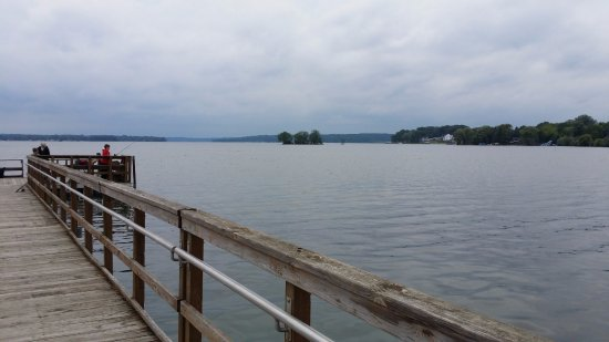 Pewaukee, WI: View from pier