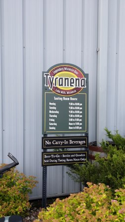 Tyranena Brewing Company: Hours