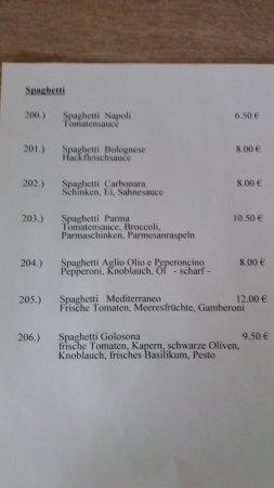 Butjadingen, Almanya: Spaghetti