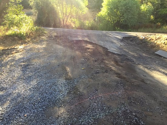 Sequoia Riverfront Cabins: Drive was dangerous as very steep unkept and led onto main road
