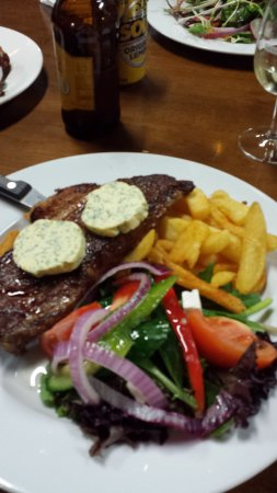Pomonal, Australia: Porterhouse steak with garlic & herb butter.