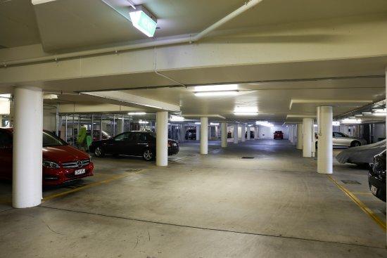 Osprey Apartments: Secure parking garage