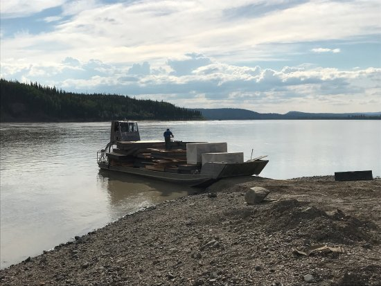 Yukon River: Barges are way of life