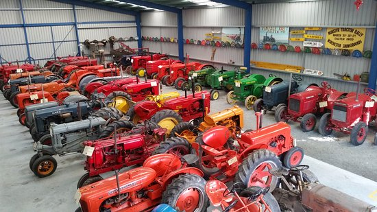 Geraldine Vintage Car and Machinery Museum: View of tractors from the mezzanine