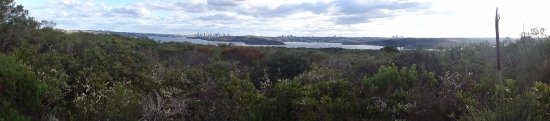North Head Sanctuary: Panorama across the harbour to South Head and Sydney