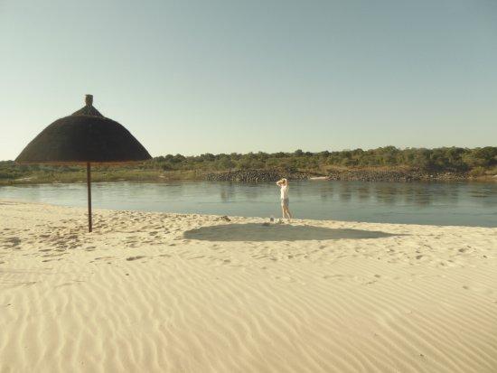 Sesheke, Zambia: Riverside beach