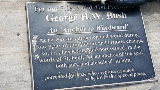 """Kennebunkport, ME: An """"Anchor in Windward"""" plaque"""