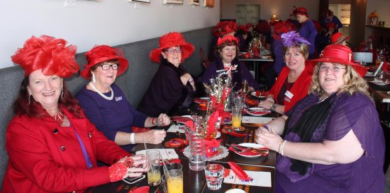 Quills  Red Hat Ladies having fun. Members of the Highland Highnesses  chapter 23669aaed1b