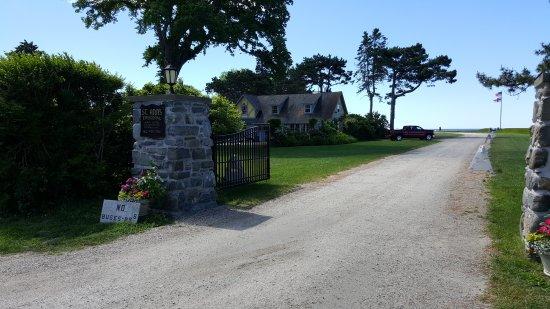 Kennebunkport, ME: entrance to St. Ann's Episcpal church
