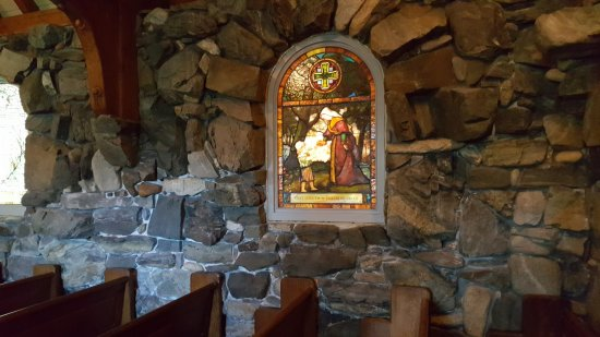 Kennebunkport, ME: stained glass inside St. Ann's Episcopal church