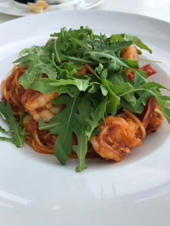 Saint Tropez Oceanclub : My Favorite: Pasta Shrimp (lunch)