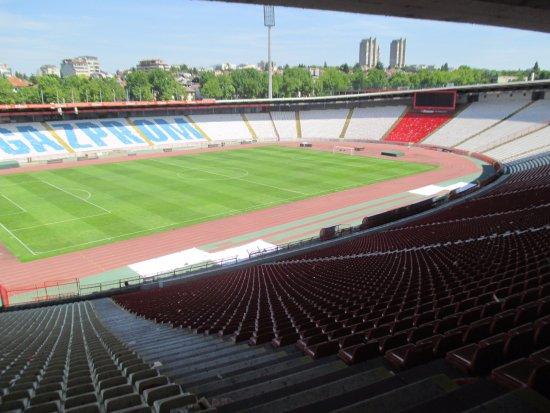 Red Star Belgrade Stadium - Marakana: Red Star Belgrade stadium from the VIP seats by the museum