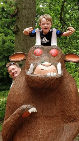 Goudhurst, UK: Gruffalo at the end