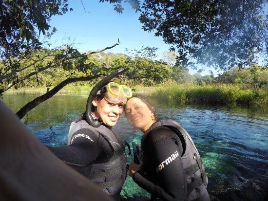 Antes de iniciar a flutuação no rio sucuri